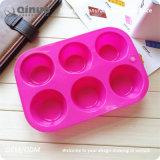 Heiße Verkaufs-Silikon-Muffin-Wannen-Form in Handarbeit gemacht mit 100% BPA-Frei