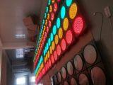 Indicatore luminoso d'avvertimento infiammante alimentato solare di traffico di alta luminosità
