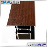 Profils en aluminium d'extrusion de couleur en bois