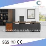 大きいサイズの暗い色の現代家具マネージャの机のオフィス表
