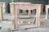 Sconto a buon mercato che vende la mensola del camino di marmo beige del camino in azione (SY-MFP12307)