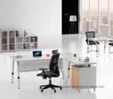 Secretária de escritório executivo de madeira de perna de metal Mobília de escritório moderna (HF-BSA05)