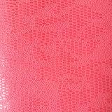 靴のための浮彫りにされた卵形のスエードのMicrofiber PUの革は袋に入れる(HS-M1701)