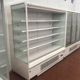 Refrigerador abierto de la visualización de la refrigeración por aire del supermercado con Ce