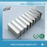 N42 N35 N52 sinterizado de níquel de recubrimiento de neodimio fuertes imanes de bloque