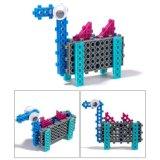 14885505-4 en 1 Animal cambió el Kit de Bloque DIY educativo juguete creativo conjunto de bloques de 33PCS (Camello de peces de cabra--- Búfalo)