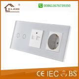 Prise murale de norme USB d'UE avec le commutateur léger de contact