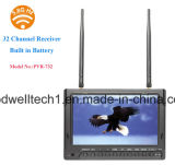 Dual 32 Channel 5.8GHz 7 Inch Video Monitor, sem tela azul