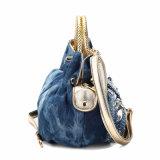 화려한 모조 다이아몬드 데님 숙녀 운반물 핸드백 (MBNO040036)