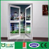 As2047 AluminiumProfle Glasflügelfenster-Tür mit glasierendem Panel