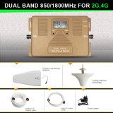 Répéteur mobile à deux bandes de signal de la servocommande 2g+4G du signal 850MHz+1800MHz