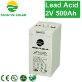 Côté 2V 500ah de batterie solaire de pouvoir du Yang Tsé Kiang