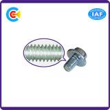 Prendedores galvanizados Fillister/4.8/8.8/10.9 da maquinaria/indústria do parafuso de soquete do hexágono do aço de Carbohn