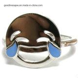 Мода украшения оптовая OEM/ODM серебряный позолоченный эмаль Emoji поверхности колец с Emoji (SR3395)
