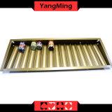 Caja dedicada de la viruta del vector del póker del casino de la bandeja de la viruta de póker de 1 capa con el bloqueo doble Ym-CT16