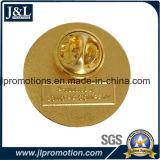 Pin отворотом эмали глянцеватого золота мягкий с задним текстом