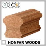 Balustrade à haute teneur en bois solide de chêne rouge pour la décoration intérieure