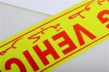Reflektierendes Band für Aufbau der temporären Verkehrszeichen