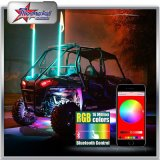 Indicatore luminoso della bandierina dell'antenna dell'automobile del LED RGB dalla frusta della bandierina del Bluetooth Control 4FT 5FT 6FT 8FT LED per ATV UTV