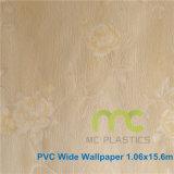 Papel de parede de vinil 3D/Papel de parede de PVC/design de flores