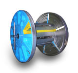 Катышка кабеля складного вьюрка стальная с свертываясь спиралью и поднимаясь системой