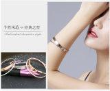 Mode féminine Bracelet New Rose en or Bracelet double en acier inoxydable