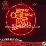 Kundenspezifische hängende LED-Acrylvorstand-Zeichen beleuchtet für Weihnachtsdekoration