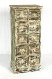 De antieke Houten Retro Keukenkasten van de Vertoning van de Opslag van het Kabinet van de Vloer