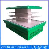 Encaixe/refrigerador/refrigerador frescos arredondados integrais do indicador das frutas e verdura do supermercado