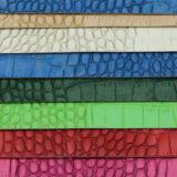 형식 최신 판매 뱀 패턴 PU 합성 핸드백 가죽 (F8556)