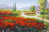 フレーム無しの多彩で装飾的な現代景色のキャンバスの芸術