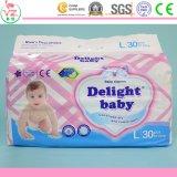 O preço de fábrica possui tecidos descartáveis do bebê do tipo