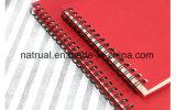 O caderno relativo à promoção do diário do couro do rascunho imprimiu o caderno da tampa dos PP do logotipo
