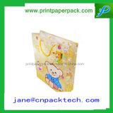 Bolso cosmético del regalo del papel de Kraft del portador de las compras de encargo de la manera