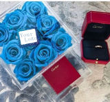 2018 новый тип Rose кладет акриловую коробку в коробку индикаций цветка