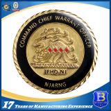 Изготовленный на заказ золото покрынное вокруг монетки возможности с мягкой эмалью (Ele-C139)