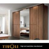 白い木製の永続的なワードローブは食器棚の習慣Tivo-00012hwに着せる