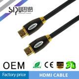 Sustentação de cabo chapeada ouro 3D de Sipu 1.4V HDMI para PS4