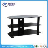 Superwirtschaft-stilvoller Glastisch und Holz Fernsehapparat-Standplatz