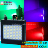 Mini Auto Sound Control LED Strobe Light 108 RGB LED Disco Party DJ Bar Light