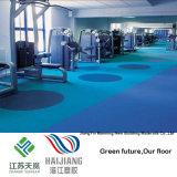 Binnen Blauw Patroon 4.5mm van de Gem van het Broodje van de Vloer van de Sporten van de Gymnastiek Vinyl