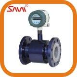 Compteur de débit électromagnétique de doublure en caoutchouc d'eaux résiduaires/fabriqué en Chine