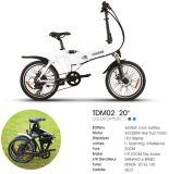 2018 nueva bicicleta eléctrica plegable de bolsillo con el canasto y el portador