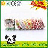 El color brillante de Manzawa Handcraft la cinta clasificada modelo de Washi del alimento de la fresa del caramelo para el regalo de enmascarado casero del partido de la decoración de DIY