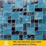 I chip Crack del ghiaccio mescolano il mosaico di cristallo in azzurro