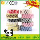Papel de embalaje de enmascarado de Washi del diseño de Manzawa del surtidor de China de la cinta adhesiva del negro del modelo lindo del triángulo para la decoración de DIY