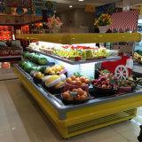 差込か必要な四捨五入されたスーパーマーケットの生鮮果実野菜の表示スリラーまたは冷却装置
