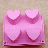 Сердце сформировало прессформу мыла силикона качества еды/поднос кубика льда