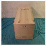 Boîte 2010 en bois à vin de Ceretto Barolo Brunate complète avec le couvercle de glissière
