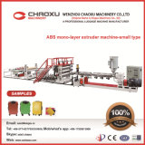 ABS Machine van de Extruder van de Lopende band van het Blad van de Plaat van de Laag van de Bagage de Enige Plastic